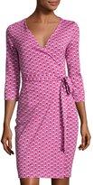 Diane von Furstenberg Julian Floral-Print Wrap Dress, Pink