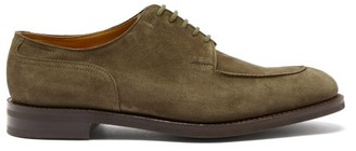 John Lobb Harlyn Suede Derby Shoes - Dark Green