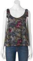 Vanilla Star Juniors' Rose & Camo Tank