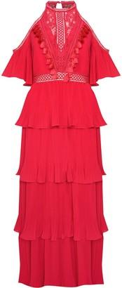 True Decadence Raspberry Pleated Halterneck Maxi Dress