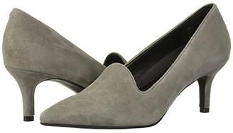 Grey Suede Kitten Heel - ShopStyle