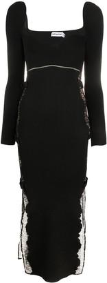 Self-Portrait Ribbed Knit Bodycon Dress