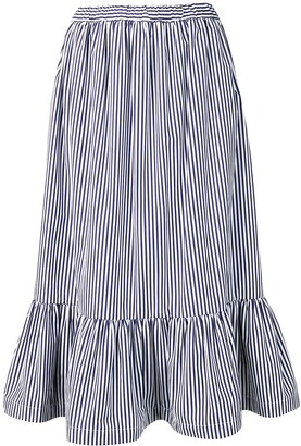 COMME DES GARÇONS GIRL Striped Flared Skirt