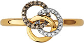 Links of London Treasured 18ct yellow-gold vermeil and diamond ring