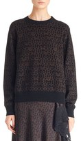 Givenchy Logo Print Wool & Cashmere Sweater