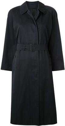 Burberry Pre Owned Straight Belted Coat
