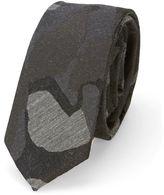 Calvin Klein Black and Grey Camouflage Tie