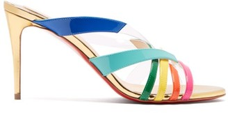 Christian Louboutin Decidela 85mm Cross-over Leather Heeled Sandals - Multi