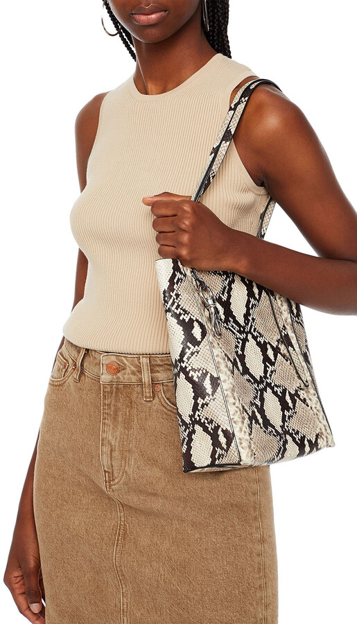 Thumbnail for your product : Rebecca Minkoff Stella Snake-effect Leather Tote
