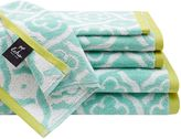 Echo Troy 6-Piece Cotton Jacquard Towel Set in Aqua