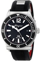 Salvatore Ferragamo Men's FF3100014 1898 SPORT Analog Display Quartz Black Watch