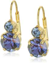 "Sorrelli Sweet Sapphire"" Round Crystal French Wire Drop Earrings"