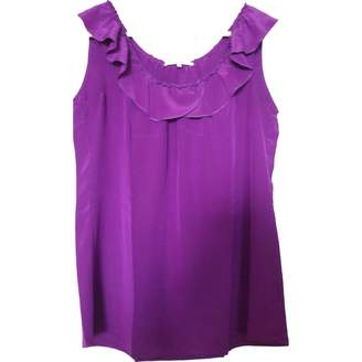 Gerard Darel Purple Silk Top for Women