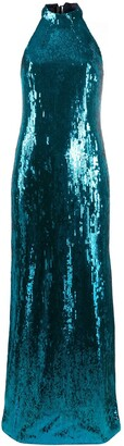 Galvan Oceana sequin embellished dress