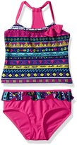 Pink Platinum Platinum Little Girls Aztec Print 2Pc Swimsuit Tankini Rashguard
