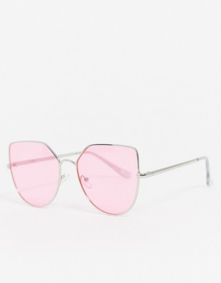 Jeepers Peepers cat eye sunglasses in pink