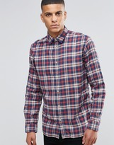 Selected Check Flannel Shirt In Regular Fit