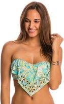 Athena SwimwearPool Paisley Ruffle Bandeau Bikini Top 7537994