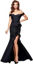 Tarik Ediz Off The Shoulder Ruffle Detail Gown 93168