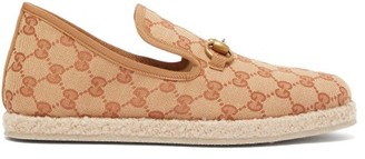 Gucci Fria Gg Canvas Espadrille Slippers - Beige Multi
