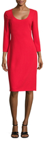 Prabal Gurung Solid Scoopneck Sheath Dress
