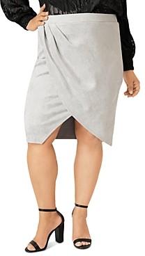 Maree Pour Toi Plus Faux-Suede Tulip Skirt
