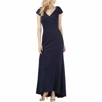 Jessica Howard Women's Sleeveless Portrait Collar Gown