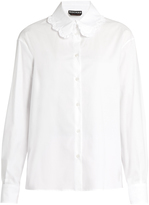 Rochas Ruffle-trimmed collar blouse
