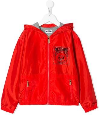 Moschino Kids logo printed rain jacket