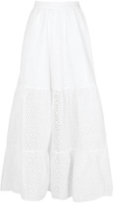 Emma Pake Serafina white broderie anglaise maxi skirt