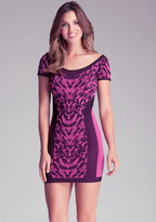 Bebe Leopard Jacquard Dress