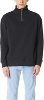 Patrik Ervell Cotton Terry Zip Turtleneck Sweatshirt