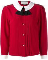 Gucci peter pan collar blouse - women - Silk - 38