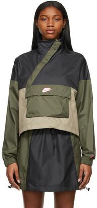 Nike Black and Khaki NSW Icon Clash Jacket