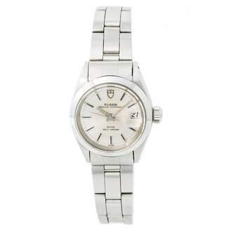 Tudor Oysterdate Silver Steel Watches