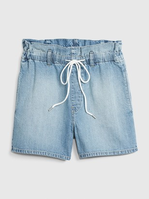 Gap Paperbag Pull-On Denim Shorts