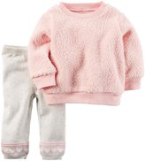 Carter's 2 Piece Sweater Set (Baby) - Pink - 6 Months
