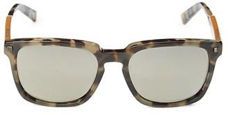 Ermenegildo Zegna 55MM Faux Tortoiseshell Square Sunglasses