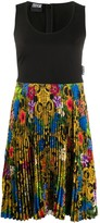 Versace sleeveless brocade print dress