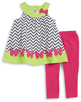Kids Headquarters Girls 2-6x Girls Butterfly Tunic and Pants Set