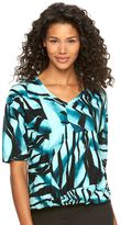 Dana Buchman Women's Print Drop-Shoulder Tee