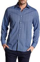 James Tattersall Long Sleeve Classic Fit Printed Shirt