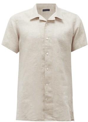 Thom Sweeney - Cuban-collar Linen-chambray Shirt - Mens - Cream