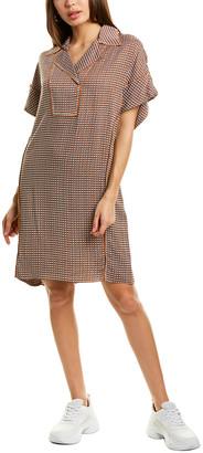 Diane von Furstenberg Maxine Silk-Blend Shift Dress