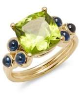 Temple St. Clair Peridot, Sapphire & 18K Gold Ring