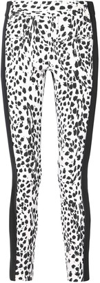 Ann Demeulemeester Leopard-print Wool And Leather Slim-leg Pants