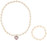 Monsoon Shimmer Pearl Heart Necklace Set