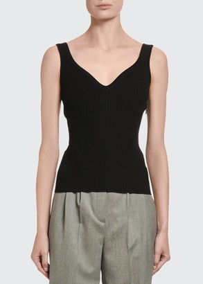 Alexander McQueen Knit V-Neck Tank Top