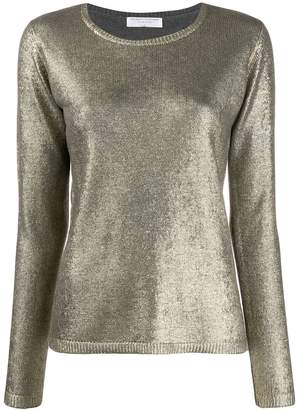 Majestic Filatures metallic long-sleeve sweater
