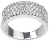 Journee Collection 1 CT. T.W. Round-cut Cubic Zirconia Engagement Pave Set Band in Sterling Silver - Silver